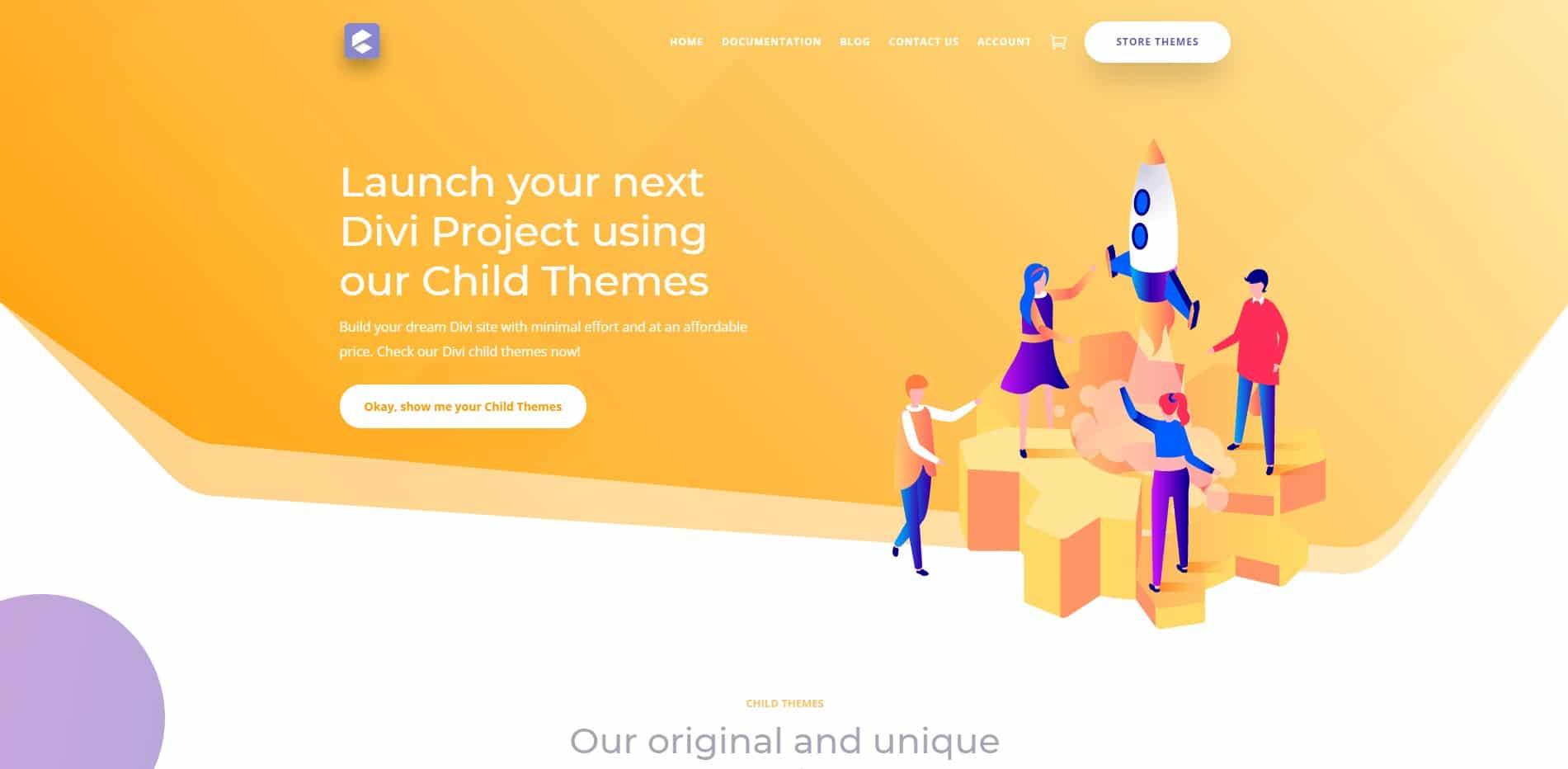 Creative child themes store
