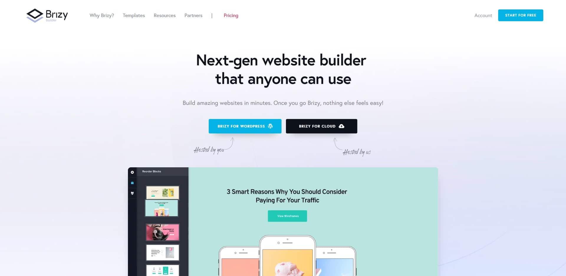 Brizy Website Bygger