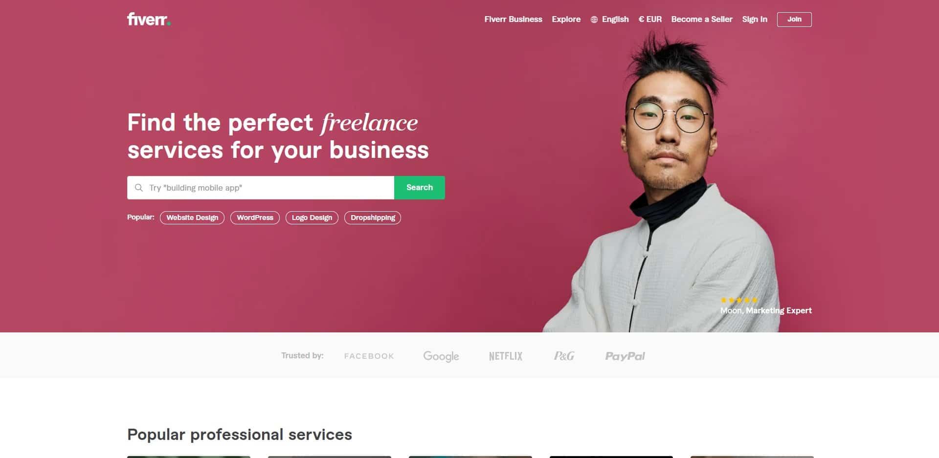 Fiverr find en freelancer