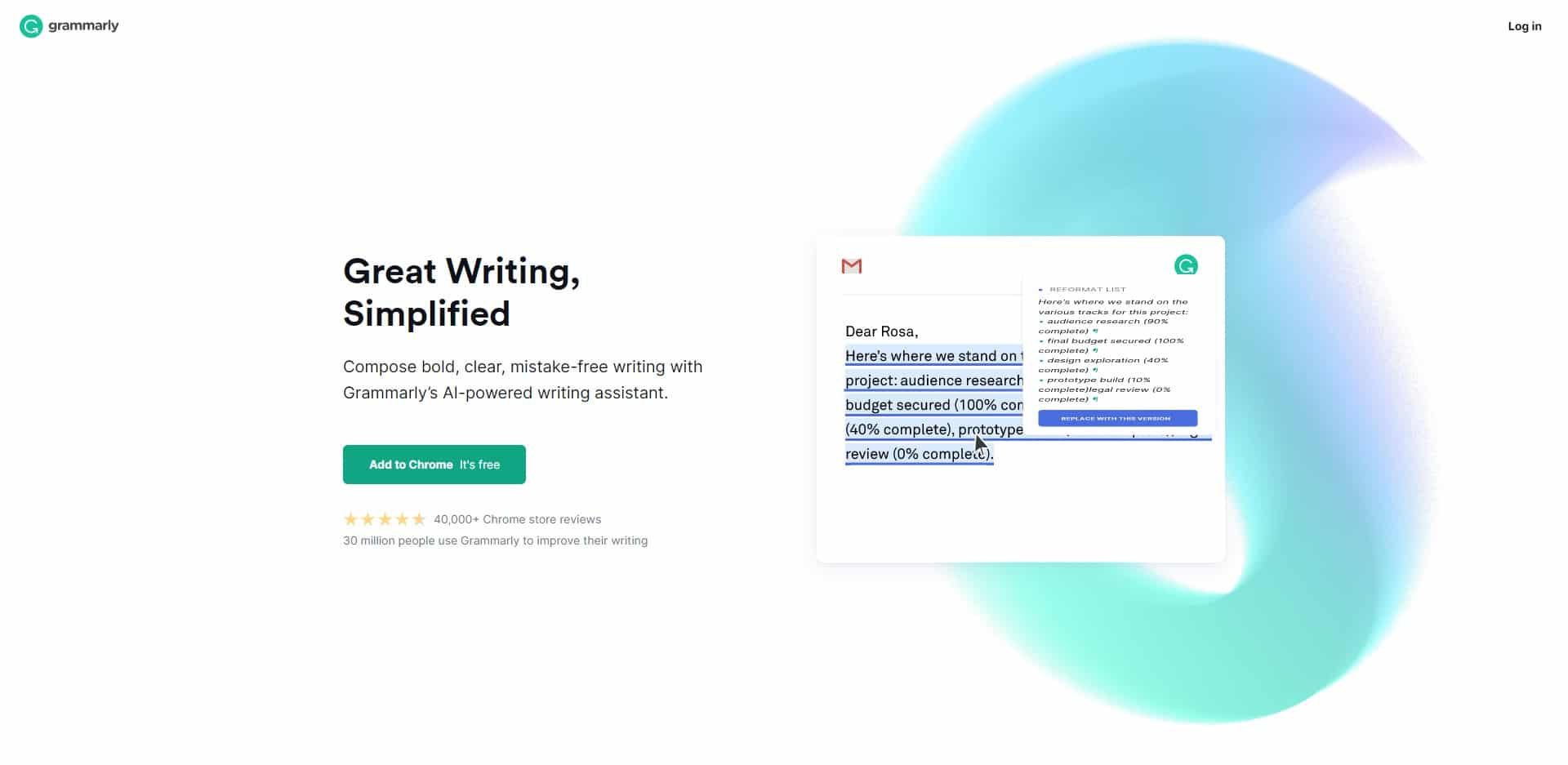 Grammarly gramma, stavekontrol og plagiat tool