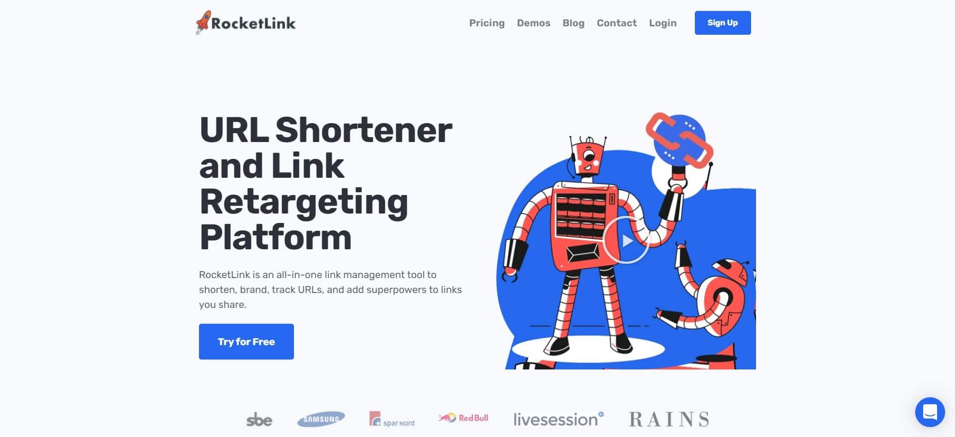 RocketLink URL Shortner